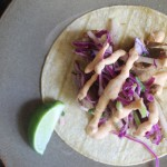 Carnitas with Apple Slaw and Chipotle Pumpkin Crema