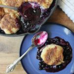 Blueberry Cobbler with Brown Butter Cornmeal Biscuits (Gluten Free)