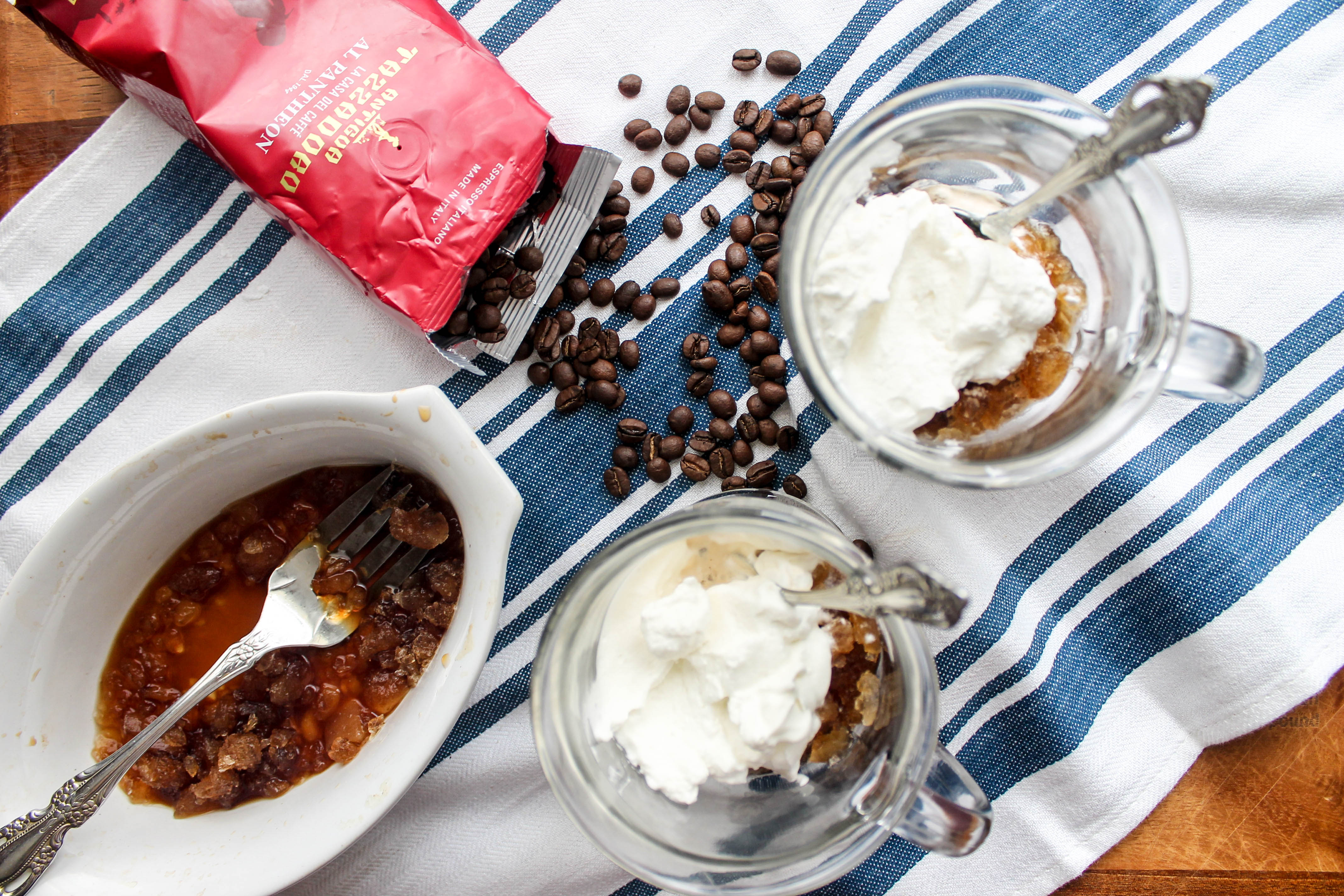 Coffee Granita with Whipped Cream