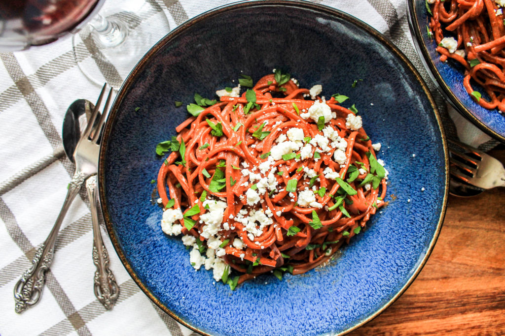 Spicy Red Wine Pasta