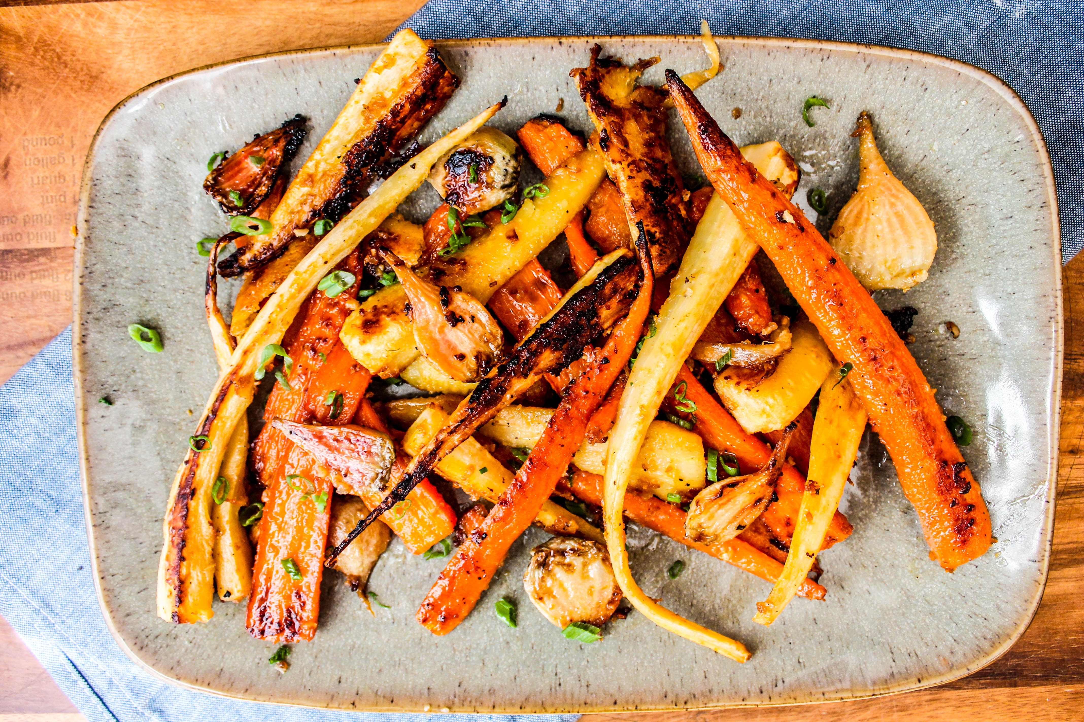 Miso Roasted Root Vegetables