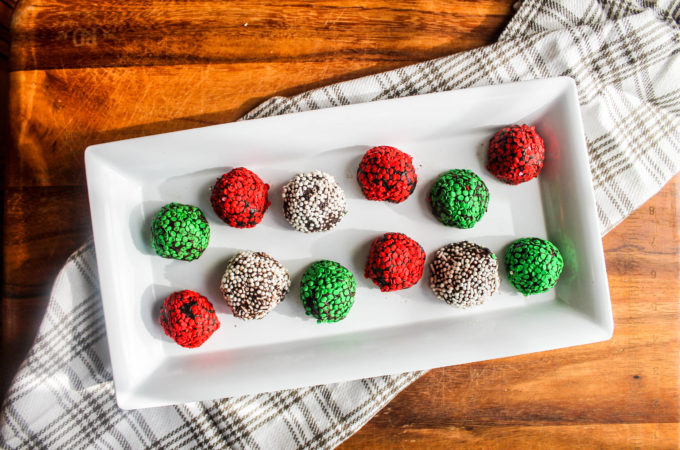 Fudgy Red Wine Cookie Truffles